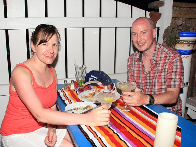 Couple Dining at El Fogon