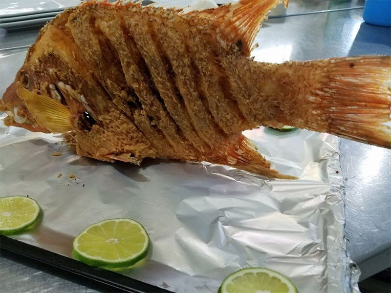 Fried Fish At El Fogon