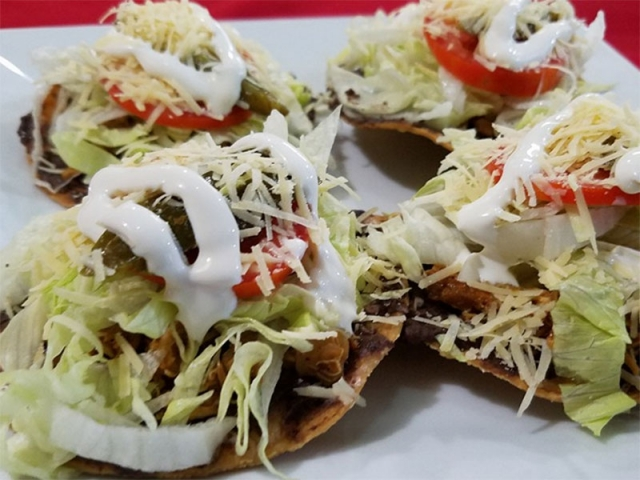 Chicken Tostadas - El Fogon