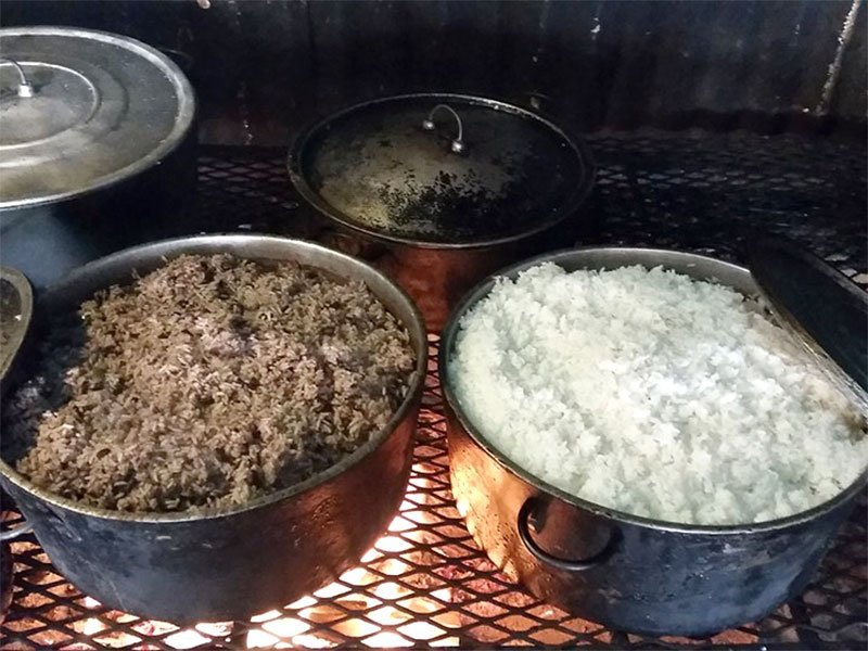 Baking Rice Over El Fogon
