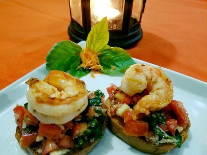 Shrimp Bruschetta - El Fogon