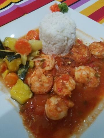 Shrimp at El Fogon