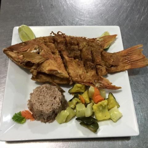 Fried Whole Fish at El Fogon
