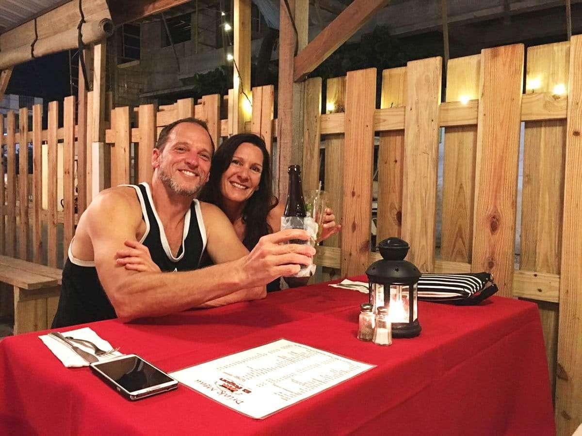 Couple Dining at El Fogon