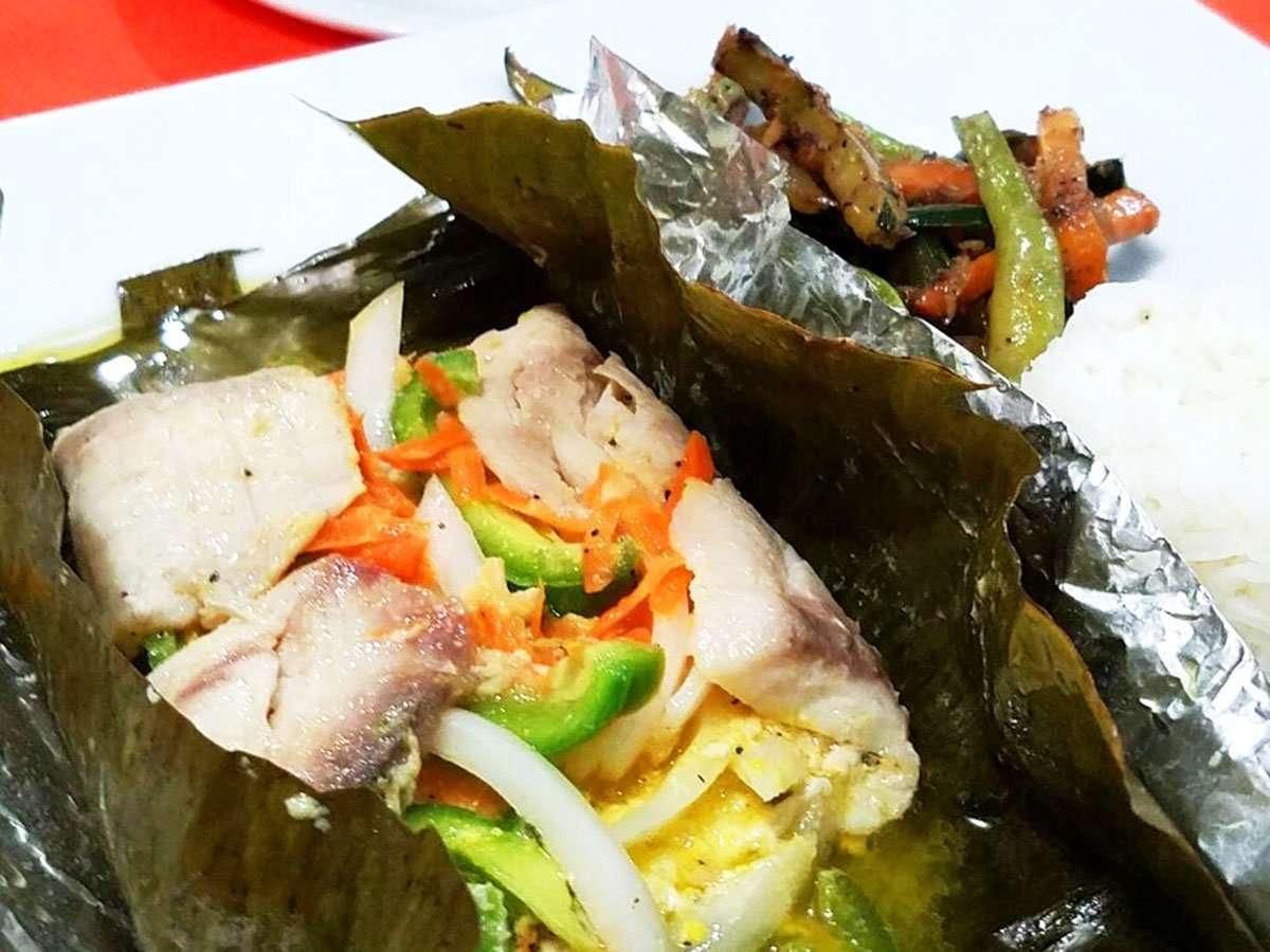 Fish Wrapped on Banana Leaf El Fogon