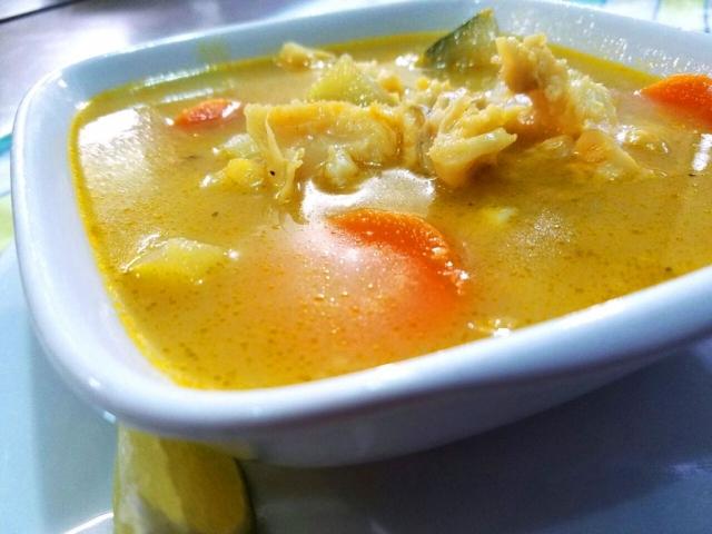 Conch Soup, an Authentic Belizean Food at El Fogon