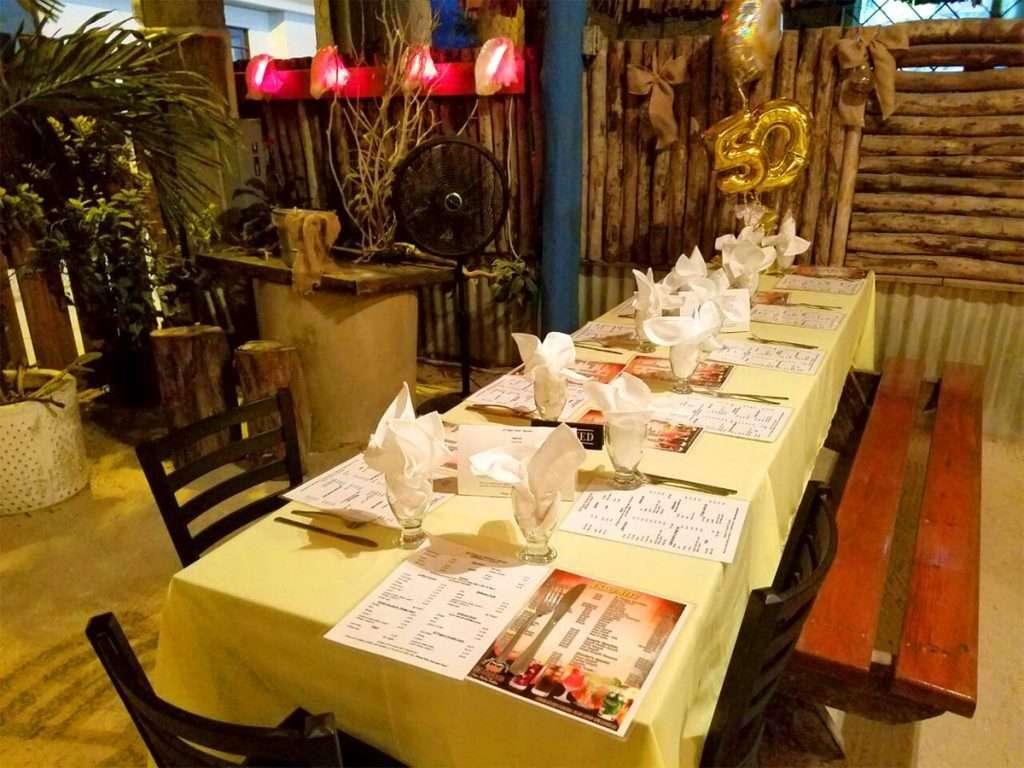 Table Seating at El Fogon