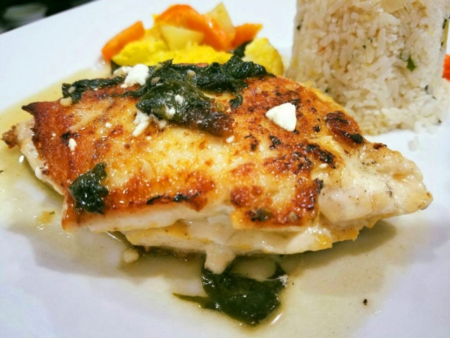 Stuffed Fish Fillet with Goat Cheese and Spinach - El Fogon