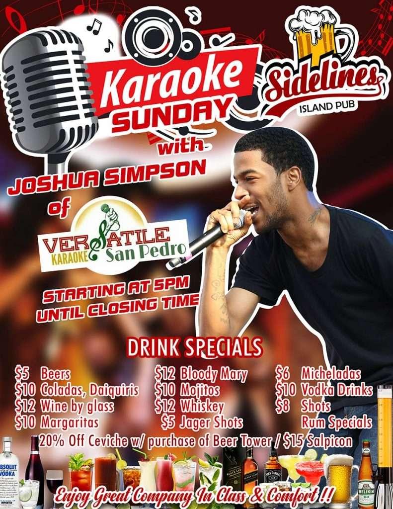 Sidelines Karaoke Sundays Flyer