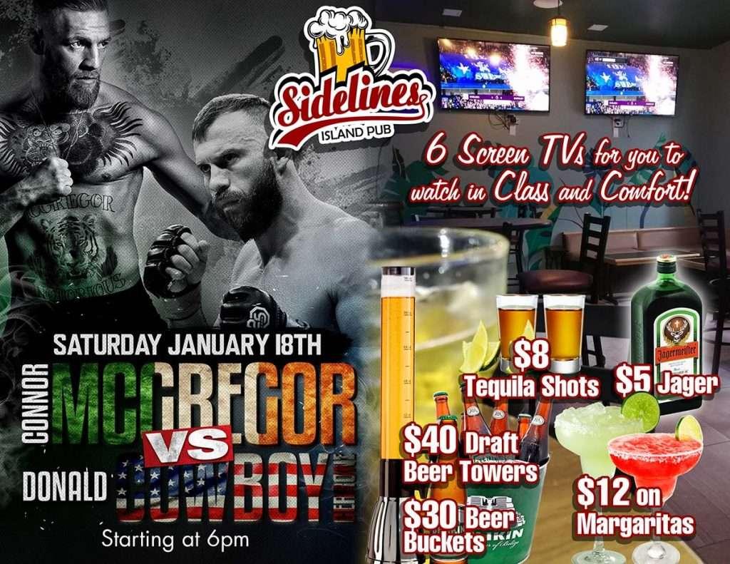 UFC 246 at Sidelines Island Pub